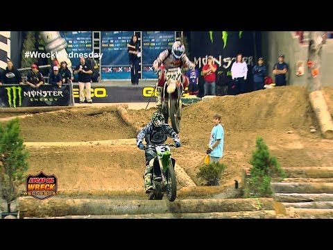 Dirt Bike crushes Dirt Biker in Endurocross - WW #10