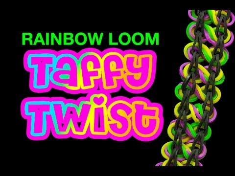 Taffy Twist Bracelet – How to make the Rainbow Loom Taffy Twist