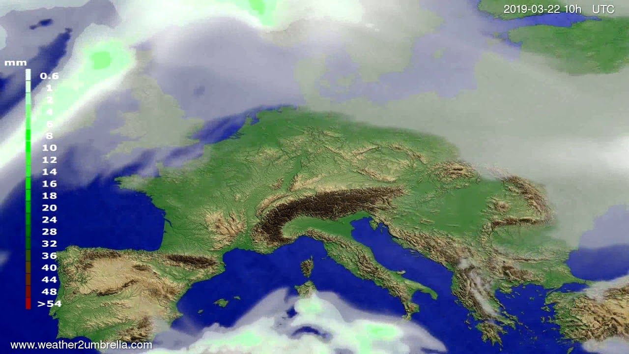 #Weather_Forecast// Precipitation forecast Europe 2019-03-20