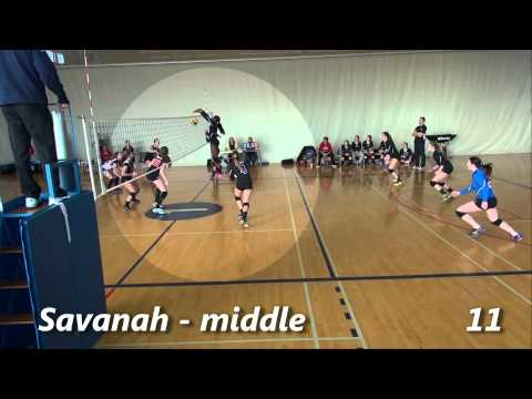 Savanah Allen - High School Volleyball Highlights