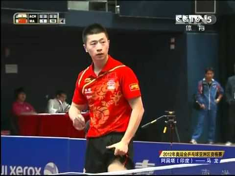 2012 Asian Olympic Qualification MA Long - ACHANTA Sharath Kamal  [Full Match/Chinese]