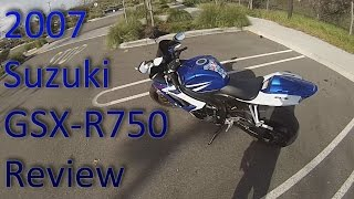 4. 2007 Suzuki GSXR 750 Review