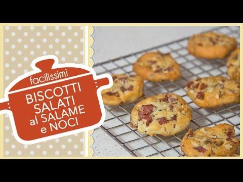 biscotti salati al salame e noci - ricetta