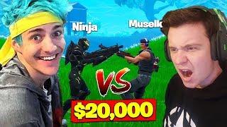 Video Ninja Vs. Muselk For *$20,000* In Fortnite Battle Royale! MP3, 3GP, MP4, WEBM, AVI, FLV Juli 2018