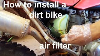 9. Need A New Air Filter? - Honda CRF150 and CRF230