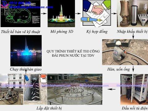 Quy trình thiết kế thi công đài phun nước tại công ty TDV Việt Nam