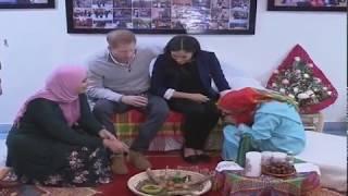 Le Prince Harry et Meghan Markle visitent un pensionnat de jeunes filles et un lycée à Asni