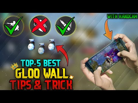 TOP 5 BEST FAST GLOO WALL TIPS AND TRICK WITH HANDCAM || FRRE FIRE