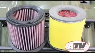 7. ATV Television - K&N Performance Air Filter on Suzuki King Quad 750