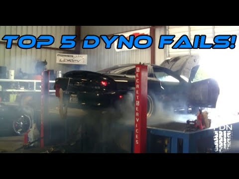 dyno - Like Us On Facebook! ▻ http://bit.ly/SpeedCult A little top 5 compilation about the worst dyno fails! Hope you guys enjoy and don't forget to subscribe!!