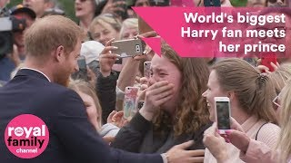 World's biggest Prince Harry fan sobs as she meets Prince Harry