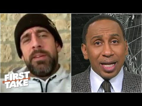 First Take reacts to Aaron Rodgers saying 'Down years for me are career years for most QBs'