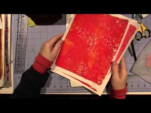 Gelli Collage Tissue box Tut; part 2