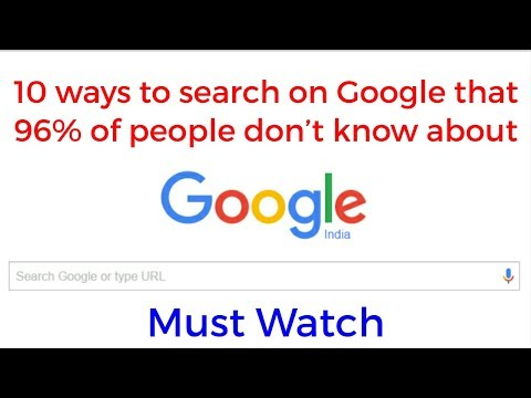 10 ways to search on Google for perfect search result that 96% of people don't know about