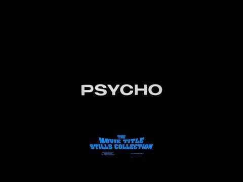Saul Bass: Psycho (1960) Title Sequence