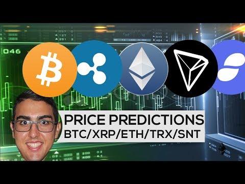 Price Predictions: Bitcoin ($BTC), Ripple ($XRP), Ethereum ($ETH), Tron ($TRX), And Status ($SNT)! (видео)