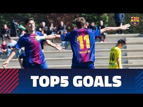 FCB Masia-Academy: Top 5 goals 17-18 March (видео)