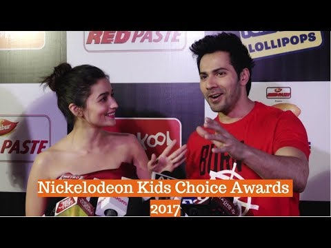 Varun Dhawan & Alia Bhatt At Orange Carpet Of Nickelodeon Kids Choice Awards 2017