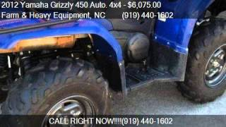 9. 2012 Yamaha Grizzly 450 Auto. 4x4  for sale in Farm and Heav