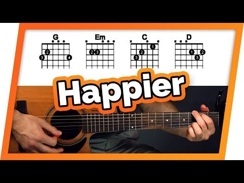 Happier Guitar Tutorial (Ed Sheeran) Easy Chords Guitar Lesson