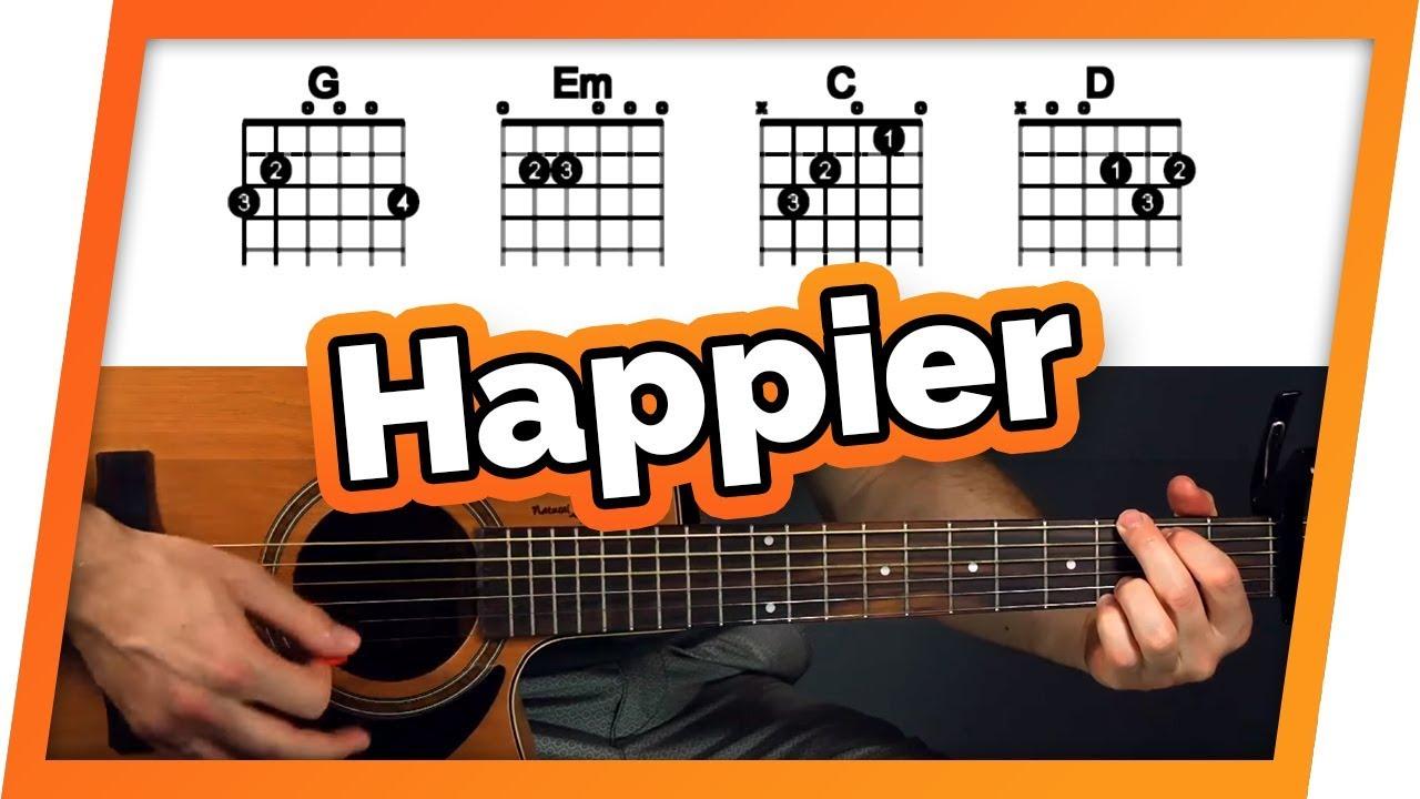 Happier – Ed Sheeran – Guitar Tutorial (Easy Chords For Beginners)
