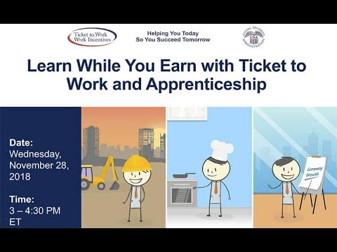 WISE Webinar 2018-11: Learn While You Earn with Ticket to Work and Apprenticeship