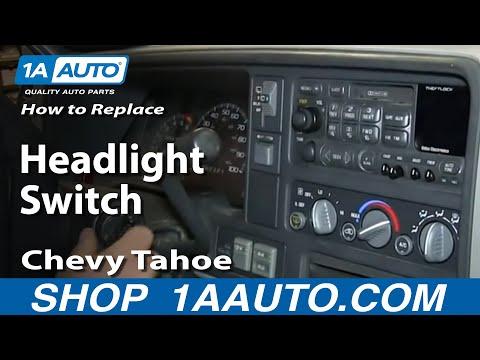 How to Install Headlight Switch 1996-99 Chevy GMC Pickup Tahoe Suburban Yukon