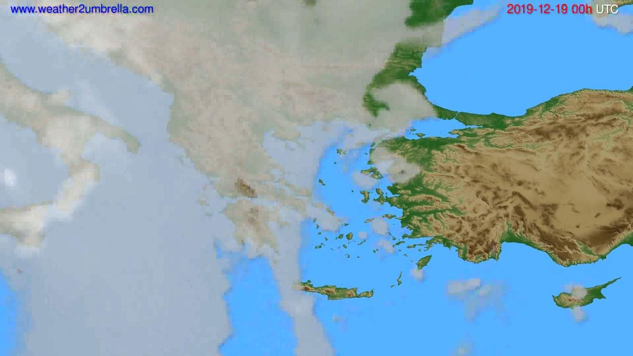 Cloud forecast Greece // modelrun: 00h UTC 2019-12-18