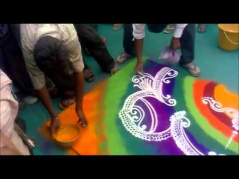 The art of Rangoli making- Amazing Video