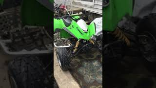 10. Kawasaki kfx90 with 125cc big bore kit and LRD exhaust pipe