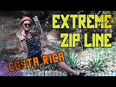 Extreme Zip Line fun in Costa Rica