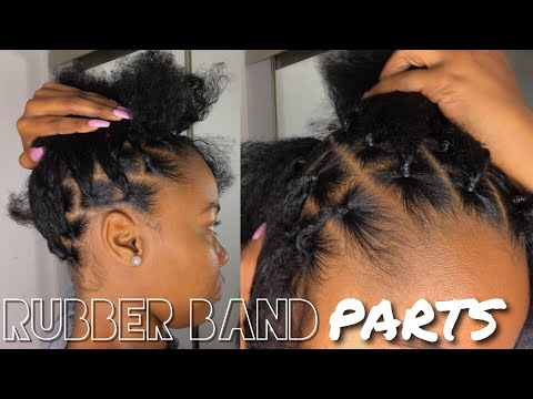How To: Part Hair Using Rubber Bands For Box Braids, Passion Twist, Etc. | Kinzey Rae
