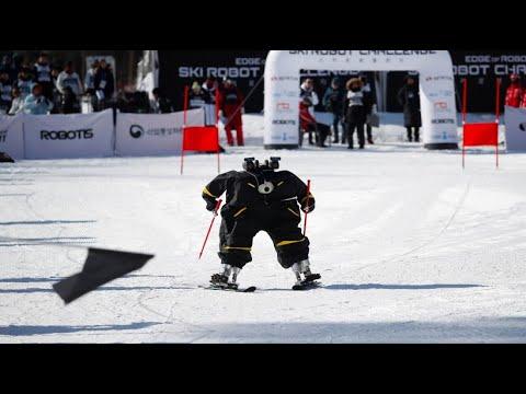 Winter-Olympia mal anders: Ski-Roboter fahren Slalom