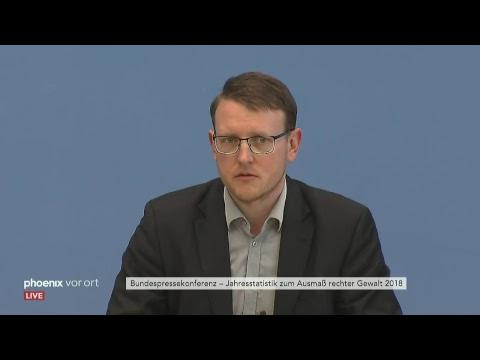 Pressekonferenz zur Jahresstatistik zum Ausmaß rechte ...