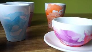 How To Make Nail Polish Marbled Mugs