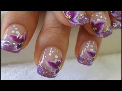 Decorados de uñas - Las últimas tendencias de Uñas decoradas con flores de los pies