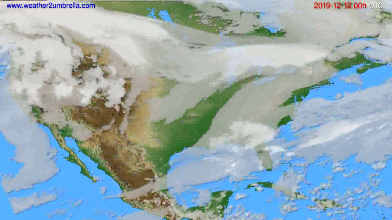 Cloud forecast USA & Canada // modelrun: 00h UTC 2019-12-12