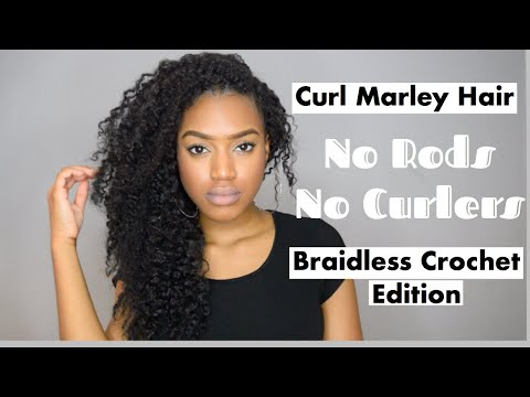Curl Individual Crochet Marley Braids | Braid Out | (Part 2)