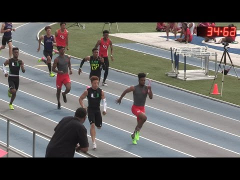 2017 TF - CalifRelays - 4x100 Relay (Men's LargeSch Final) (301)