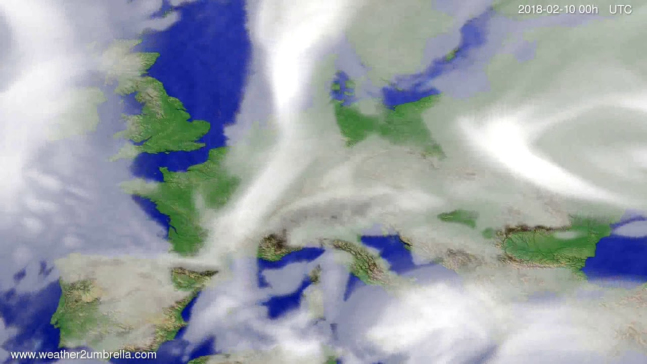 Cloud forecast Europe 2018-02-07
