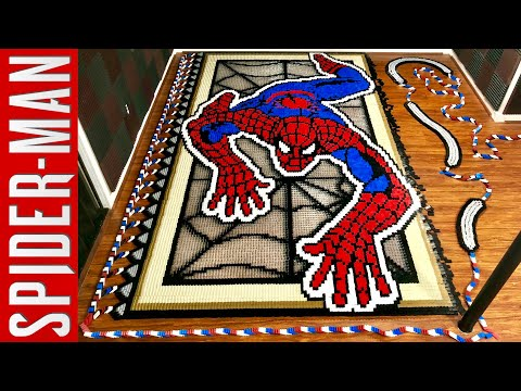 SpiderMan in 36 186 Dominoes