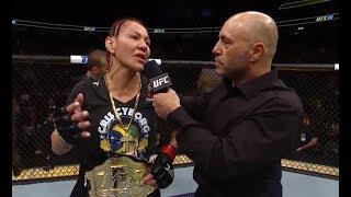 Video UFC 222: Cris Cyborg Octagon Interview MP3, 3GP, MP4, WEBM, AVI, FLV November 2018
