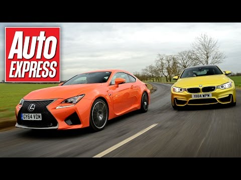 Lexus RC F vs BMW M4 super-coupe track battle