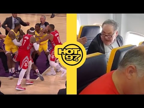 Racist Goes On Tirade In An Airplane + Did Rajon Rondo REALLY Spit At Chris Paul?