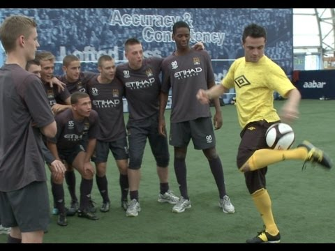 City - Filmed October 2010* Brazilian Futsal legend Falcao visited Manchester City Academy and took part in a skills school against some of the Academy players for...