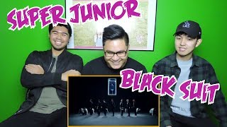 SUPER JUNIOR - BLACK SUIT MV REACTION (FUNNY FANBOYS)