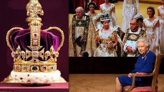 Video The Queen is reunited with St Edward's Crown for the first time since her Coronation 65 years ago MP3, 3GP, MP4, WEBM, AVI, FLV April 2018