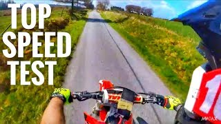 5. Honda CRF250R Top Speed Test (Mph)