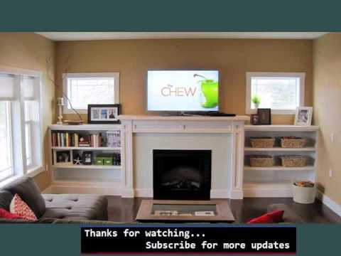Wall Storage Shelves Picture Ideas   Shelving Around Fireplace