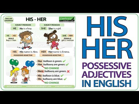 HIS - HER - Possessive Adjectives - Basic English Lesson